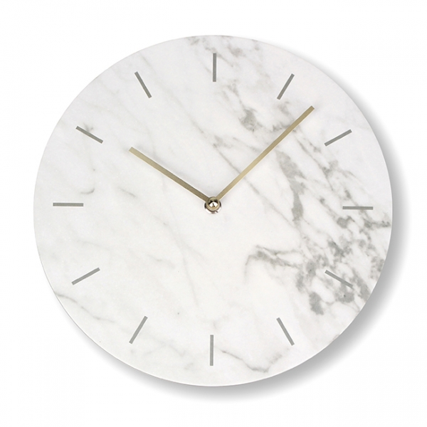 d'clock marble. white
